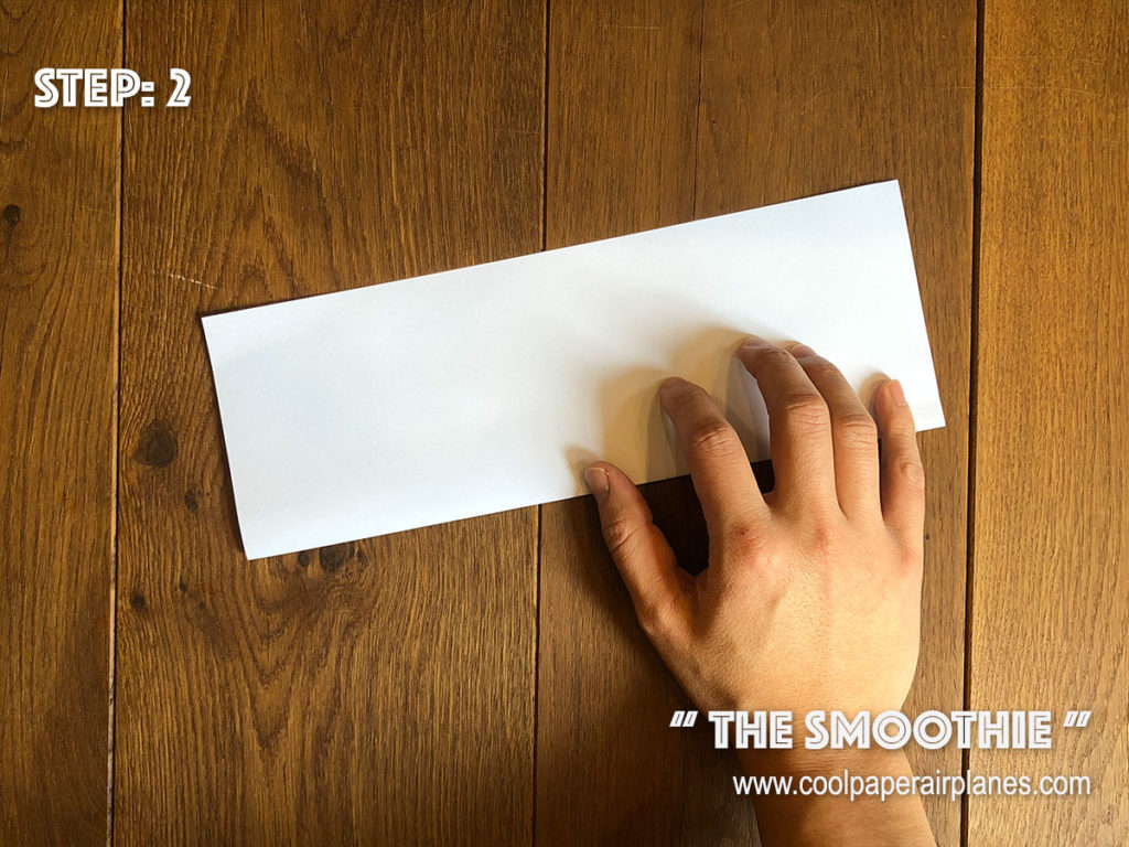 Smoothie paper airplane that flies far - Step 2