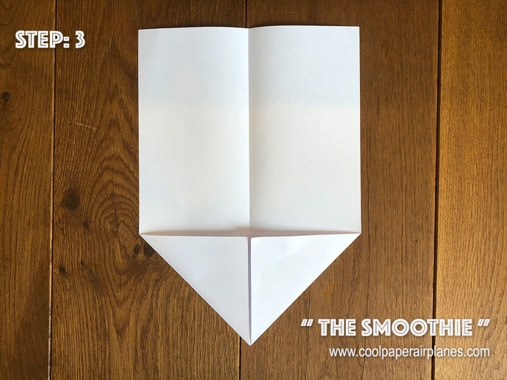 Smoothie paper airplane that flies far - Step 3