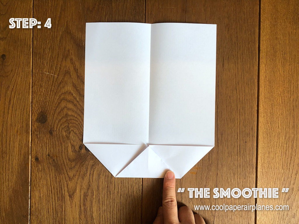 Smoothie paper airplane that flies far - Step 4