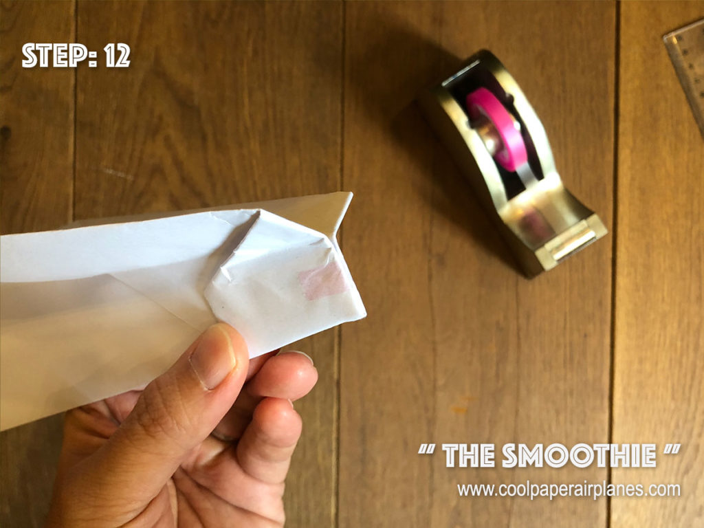 Smoothie paper airplane that flies far - Step 12