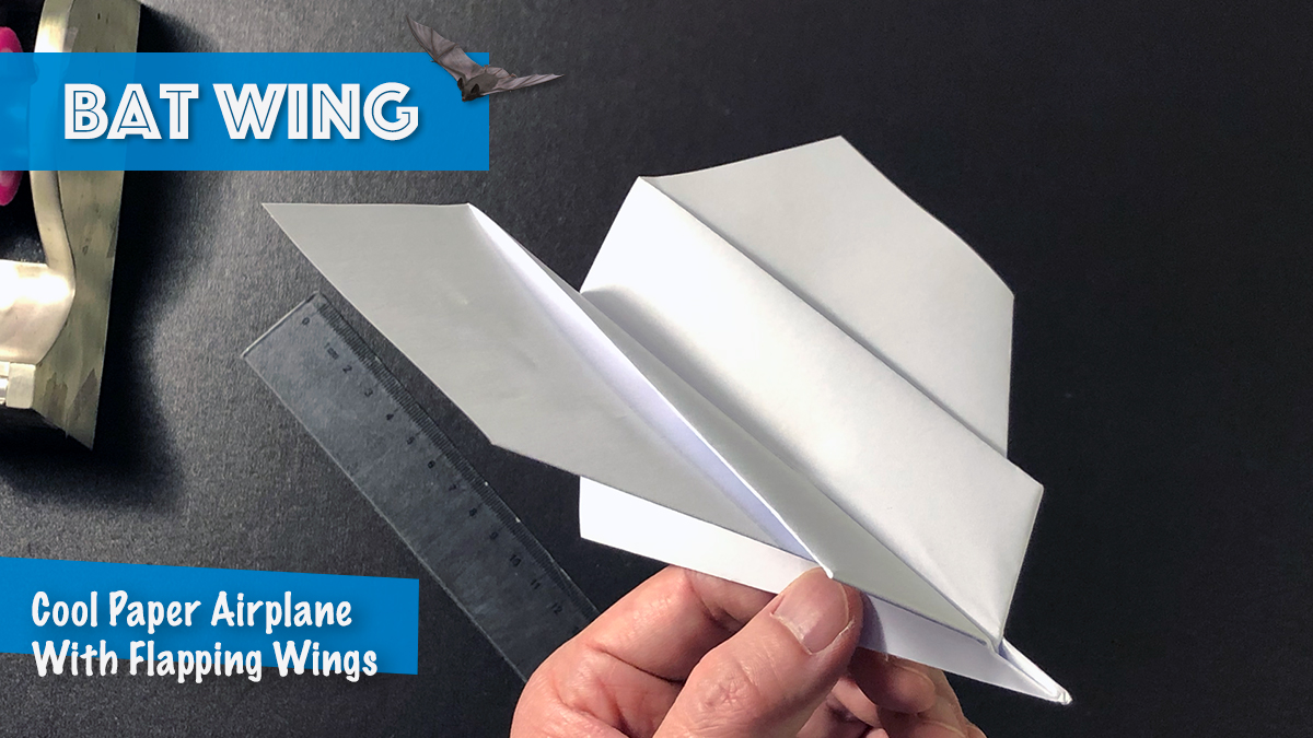 Bat Wing Paper Airplane